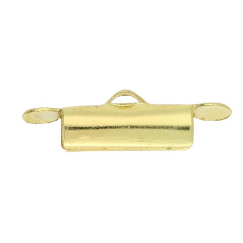 Gold Plated Brass Multi Strand Tube End 4x9mm Pk4