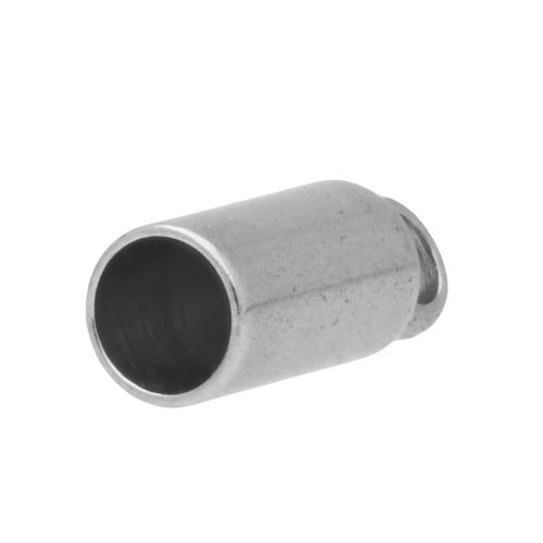 End cap / surgical steel / 8x3x3mm / silver / hole 2.5mm / 4pcs