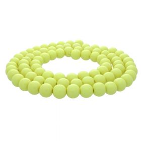 Milly™ / round / 8mm / pastel yellow / 100pcs