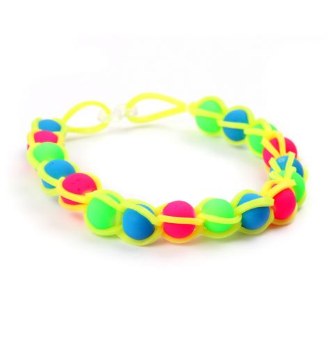 Neon Rubber Band Bracelet
