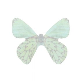 Butterfly wings / organza / 31x43mm / green / 4pcs