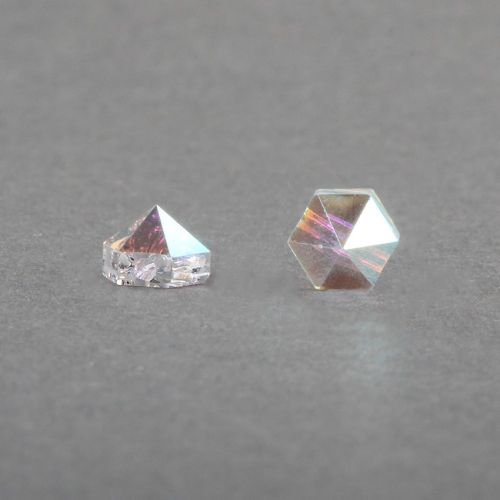 5060 Swarovski Hexagonal Spike One Hole Bead 5.5mm Crystal AB Pk6