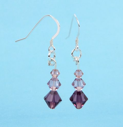 Graduated Earrings made with Swarovski