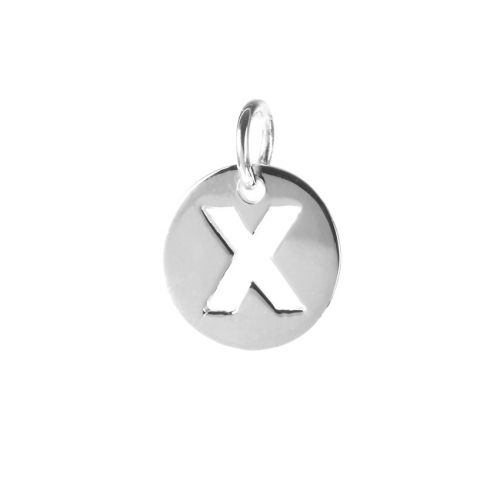 Sterling Silver 925 'X' Letter Cut Out Charm 11mm Pk1