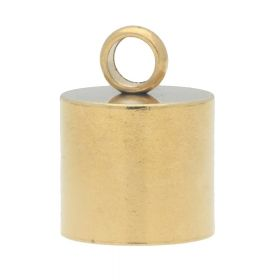End cap / surgical steel / 8x4x4mm / gold / hole 3mm / 2pcs