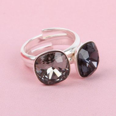 Crystal Monochrome Rings