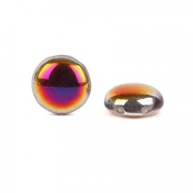 Preciosa Big Candy Czech Twin Hole Purple/Copper 12mm Pk20