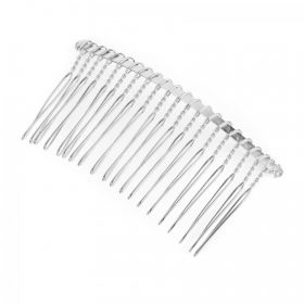 Silver Plated Wire Hair Comb 7.5cm Pack1