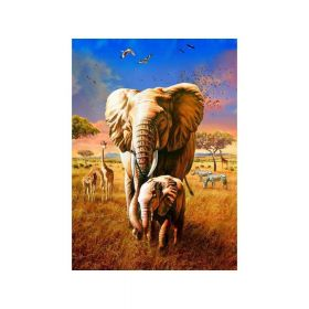 Diamond painting / mosaic 5d / elephant / 40x50cm / 1 pc