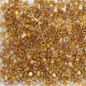 Miyuki Triangle 5 Seed Beads Colour Lined Yellow/Gold 10g