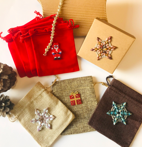 How to embellish a gift box/bag - snowflake decoration step by step