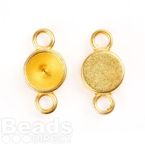Gold Plated Charm Setting for 8mm Chaton Pk2