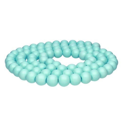 Milly™ / round / 10mm / turquoise / 85pcs