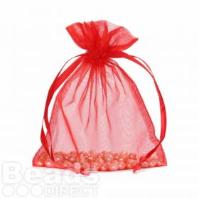 "X-Red Organza Bag 5""x6.5"" Pack 5"