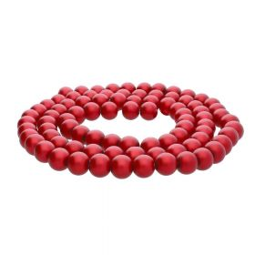 SeaStar™ satin / round / 10mm / red / 85pcs