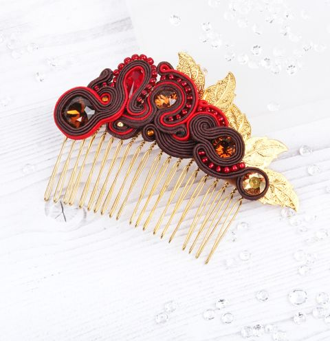 Golden Glow Hair Comb