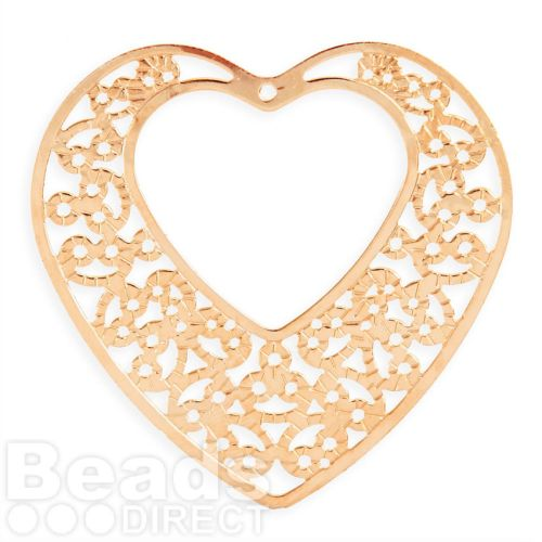 Rose gold plated filigree heart pendant with cut out heart 43x47mm rose gold plated filigree heart pendant with cut out heart 43x47mm pk1 aloadofball Gallery