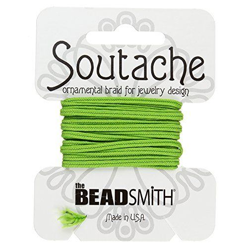 Lime Polyester Soutache Cord Beadsmith 3yds