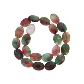 Agate / faceted oval / 17x13mm / multicolour / 22pcs