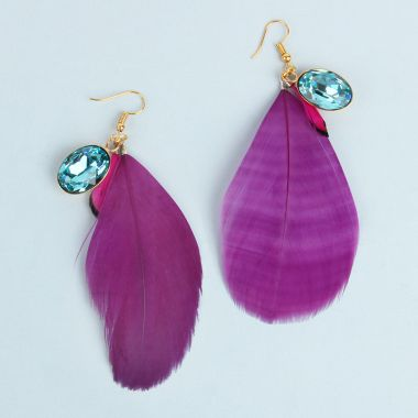 Christmas Carnival Feather Earrings