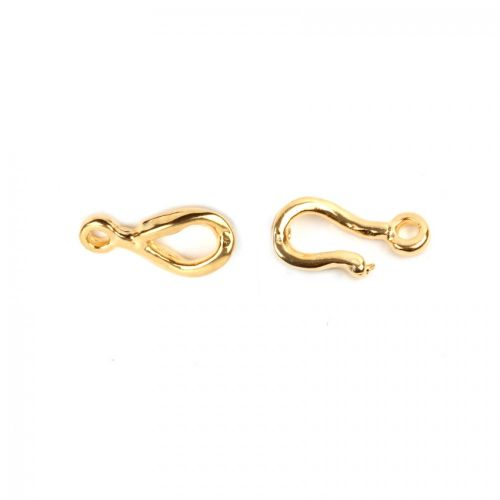 Gold Plated Hook Clasp 20mm x1 Set