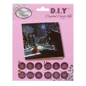 Beads Direct 'Curious Cat' Crystal Card Kit