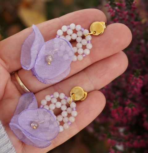 How to make earrings with natural stones - A simple DIY tutorial for beginners