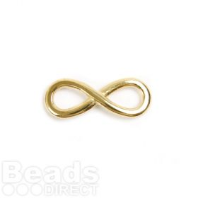 Gold Plated Zamak Infinity Charm 12x30mm Pk2