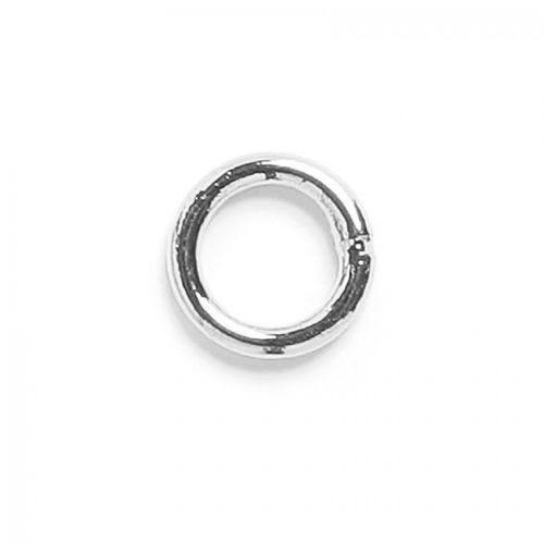 Soldered closed ring silver plated 6mm. Pack of 50
