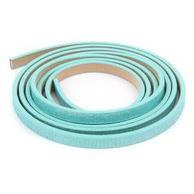 Turquoise Shimmer Effect PU Flat Cord 5mm 1.2metre