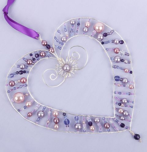 Violet Love Heart Decoration