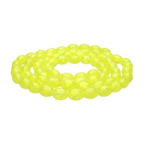 Mistic™ / oval / 10x8mm / yellow / 75pcs