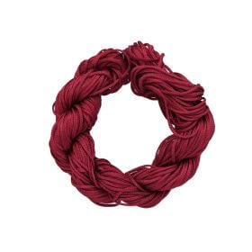 Mcord ™ / Macramé cord / nylon / 1.5mm / dark red / 13m