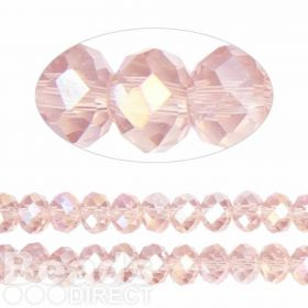 Essential Crystal Faceted 8mm Rondelle Pink AB 72pack