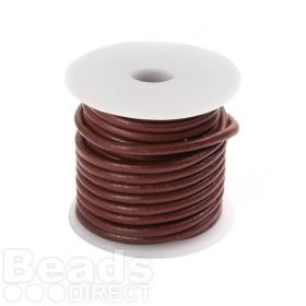 Mulberry Round Leather 2mm Cord 5 Metre Reel