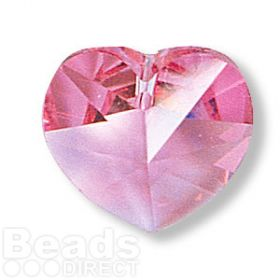 6228 Swarovski Crystal Heart 17.5x18mm Rose Pk1