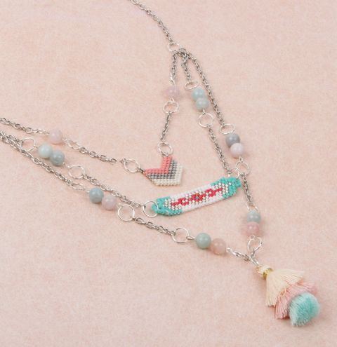 Pretty Pastel Layered Necklace