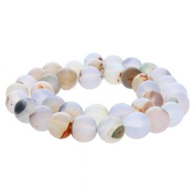 Ocean agate / round / 12mm / multicolour / 32pcs