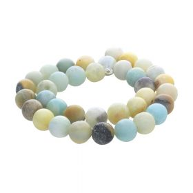 Amazonite / round / 8mm / multicoloured / 46pcs