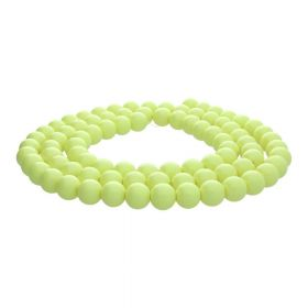 Milly™ / round / 10mm / lime / 80pcs