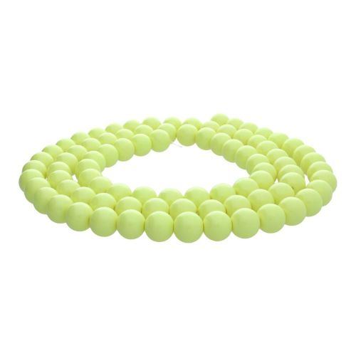 Milly™ / satin round / 10mm / lime / 80pcs
