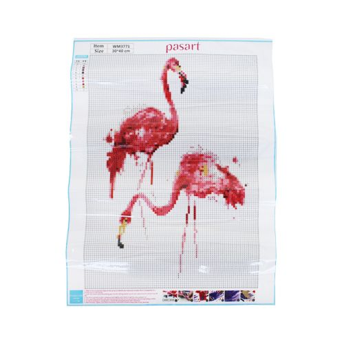 Diamond painting / mosaic / flamingo / 30x40cm / 1pcs