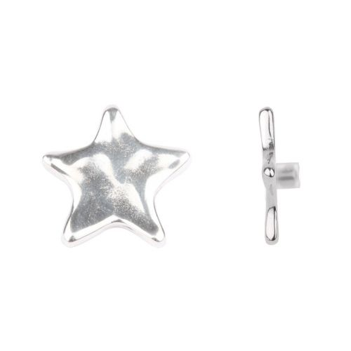 Antique Silver Star Pin Charm for Bangle with Stopper 28mm Pk1