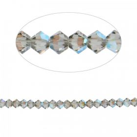 5328 Swarovski Crystal Bicone Beads 3mm Black Diamond Shimmer Pk24
