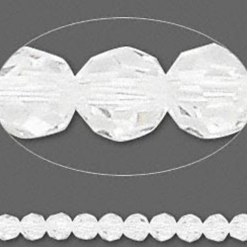 5000 Swarovski Crystal Faceted Rounds 4mm Clear Pk12