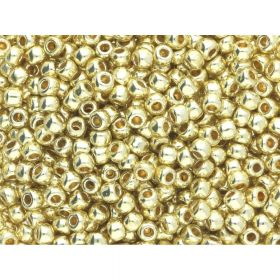 TOHO™ / Round 11/0 / PermaFinish Galvanized / Yellow Gold / 10g / ~ 1100 pcs