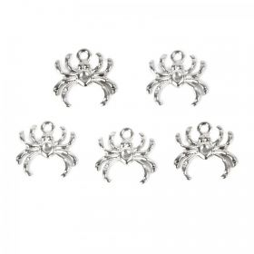 Silver Plated Spider Charm Pk5