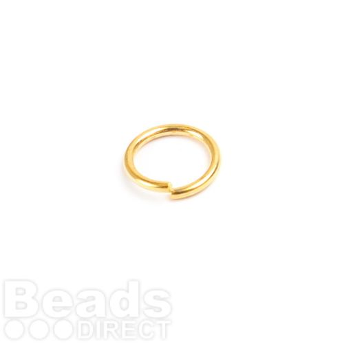 Gold Plated Iron Jumprings 7mm 0.8mm Thick Pk100