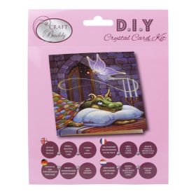 Craft Buddy 'Dragon and the Cookie Fairy' Crystal Card Kit