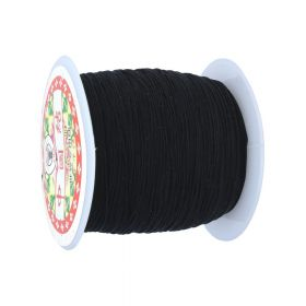 Macrame twine / nylon / 0.8mm / black / 95m